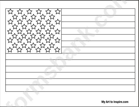 printable american flag template american flag coloring page printable pdf