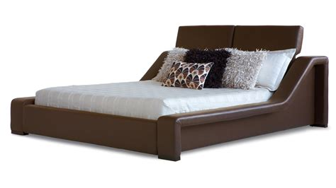 zuri furniture leather contemporary platform bed brown zuri