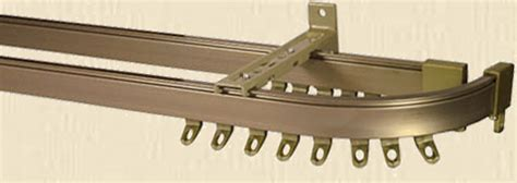 double curtain track for bay window curtain tracks rails corded uncorded plastic metal
