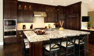 Kitchen Paint Colors With Dark Wood Cabinets by Interior Design
