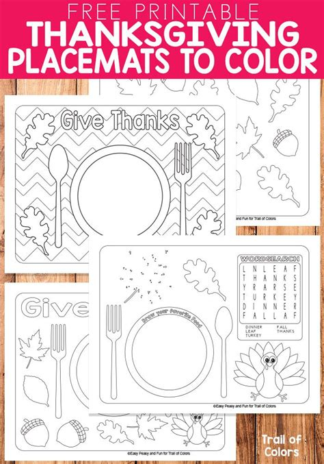 printable turkey placemat 1990 best free printables for kids images on pinterest