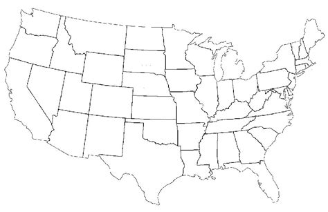 america map black and white labeled this is what happens when americans are asked to label