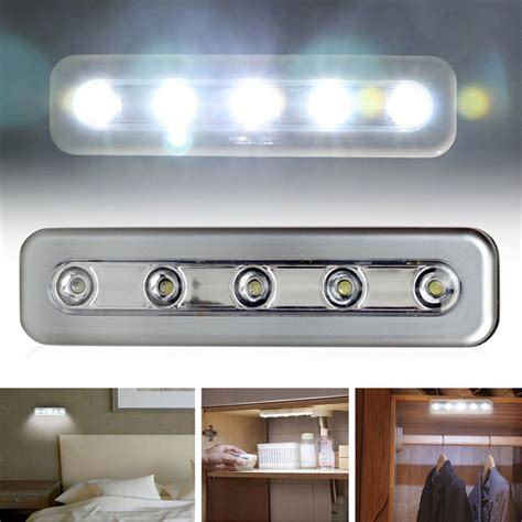 stick on under cabinet lights 5led touch night light home kitchen under cabinet closet