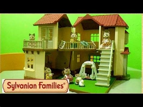 Set Familly 2 sylvanian families city house with lights gift set