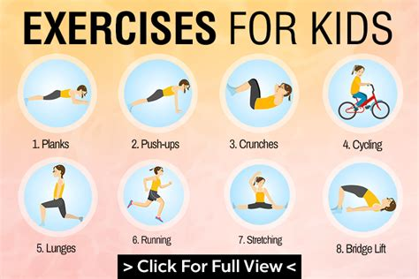 exercise pictures for boy doing sport exercise physical activity vector image 41