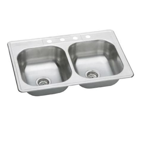 elkay neptune top mount stainless steel 33 in 4