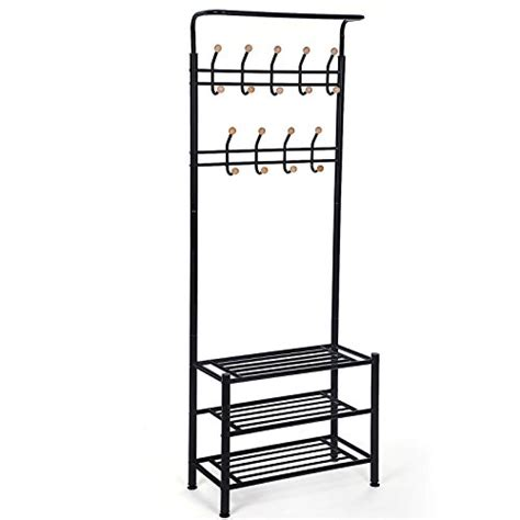 Khususlharilini 03 Tree Multifunction Wardrobe Cloth Rack With Cov home garden hallway furniture find offers and compare prices at wunderstore