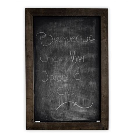 chalkboard paint en francais chalkboard made of stained wood and white paint