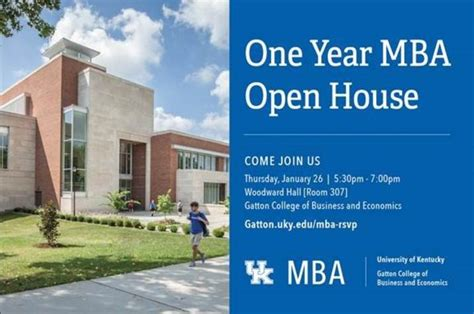 Uky One Year Mba Tuition by Gatton To Host Mba Open House On Jan 26 Uknow