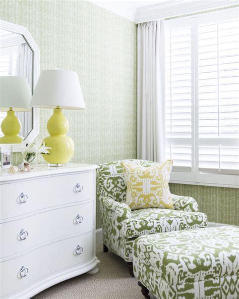 yellow  green bedrooms transitional bedroom
