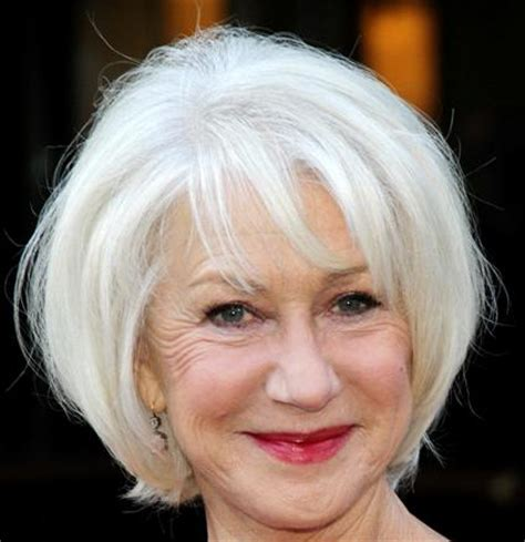 helen mirren cuts hair elegant hairstyles helen mirren wedge hairstyle casual evening everyday