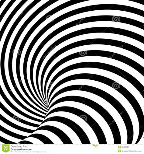 pattern distortion vector design uncolored whirlpool illusion background stock
