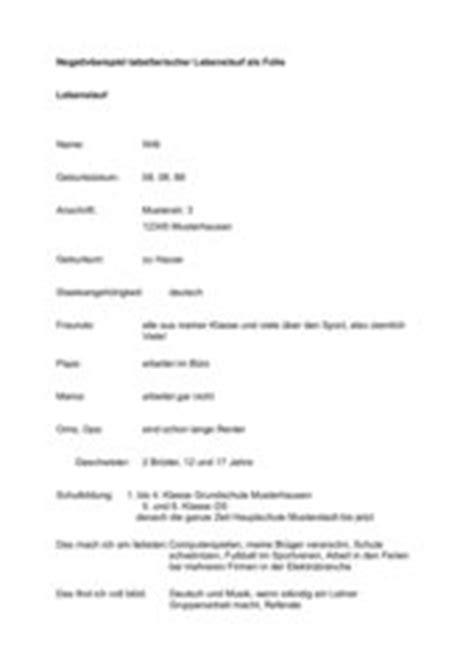 Tabellarischer Lebenslauf Pages Mac 4teachers Lehrproben Unterrichtsentw 252 Rfe Und