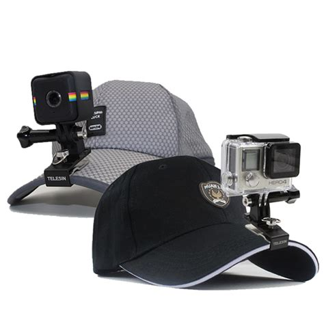 Clip Gopro telesin aluminum backpack clip cap hat clip stand with
