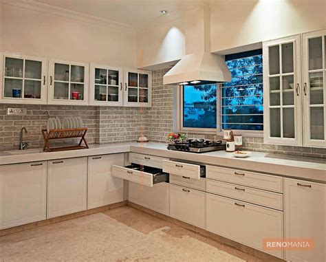 In Design Kitchens Regular Kitchen Cabinets Modern Contemporary Minimalist White Kitchen Ahmedabad By Ego