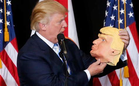 donald trump news donald trump has hamlet moment with beautiful mask of