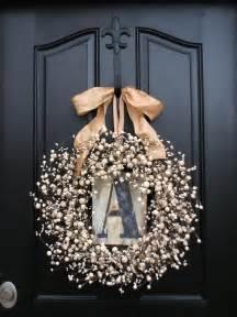 Initial Front Door Wreaths Wreaths Monogram Wreath Wreath For Door Personalized