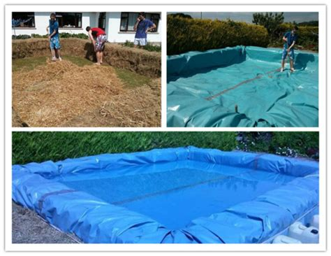 how to build a hay bale swimming pool diy swimming pool from bales of hay how to instructions