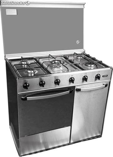 cocinas de butano svan svk9551gbi cocina gas butano inox con portabombonas