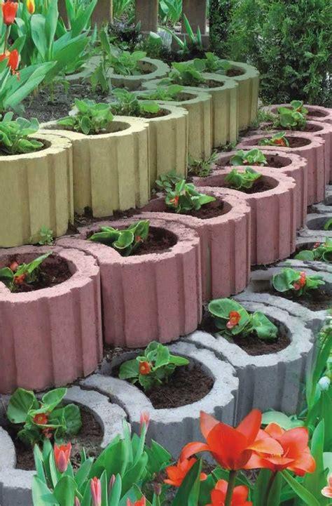 garten ideen pflanzsteine pflanzringe gestalten anordnen und bepflanzen ideen