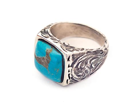turquoise jewelry mens rings jewelry flatheadlake3on3