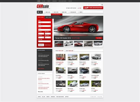 website for sale new used cars website template 38522