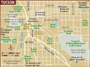 map of tuscon arizona tucson arizona usa map
