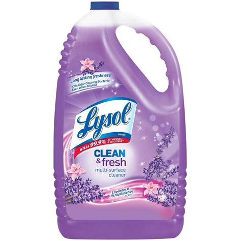 lysol 144 oz lavender pourable all purpose cleaner 19200 88786 the home depot