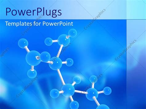 molecular templates powerpoint template molecular structure with dna symbol