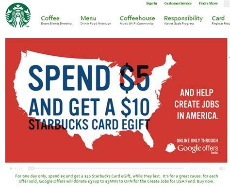 Starbucks London Gift Card - 10 starbucks gift card for 5 today only