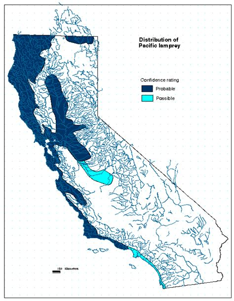 pacific lamprey maps