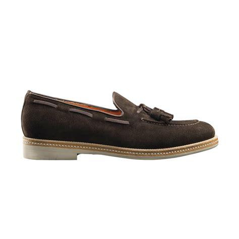 tassel loafers santoni terry s suede tassel loafers brown