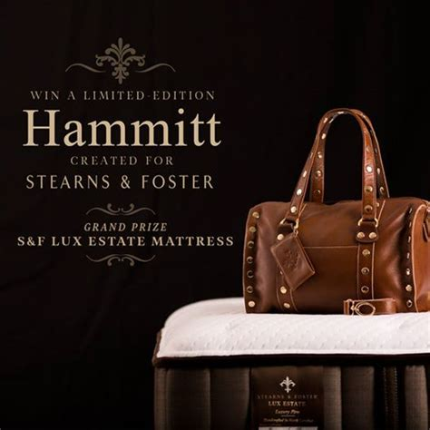 Stearns And Foster Sweepstakes - stearns foster handcrafted hammitt handbag giveaway mama in heels