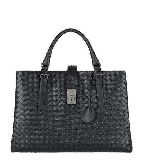 Bottega Veneta Medium Canvas Handbag by Bottega Veneta Medium Intrecciato Roma Tote Bag In Black