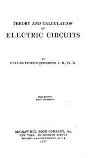 theory and calculation of alternating current phenomena classic reprint books theory and calculation of electric circuits 1917 edition