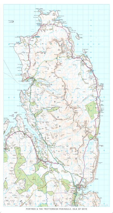 printable map skye the trotternish peninsula isle of skye