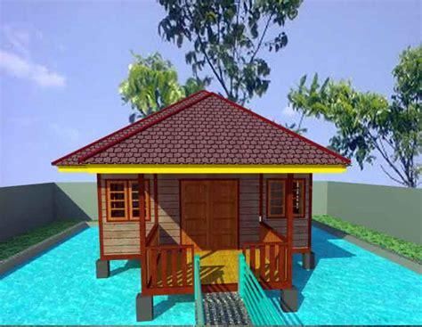 desain rumah panggung beton gambar desain rumah panggung kayu di atas kolam