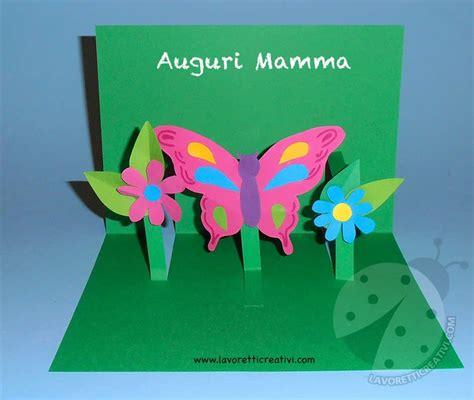 biglietti con fiori biglietto pop up con fiori e farfalla lavoretti creativi