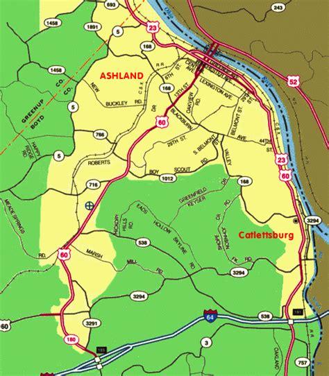 kentucky map ashland ashland kentucky