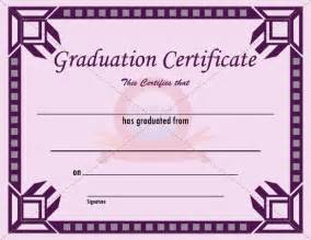 graduation certificate template free graduation certificate template ideas for the house