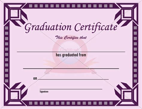 graduation certificate templates free graduation certificate template ideas for the house