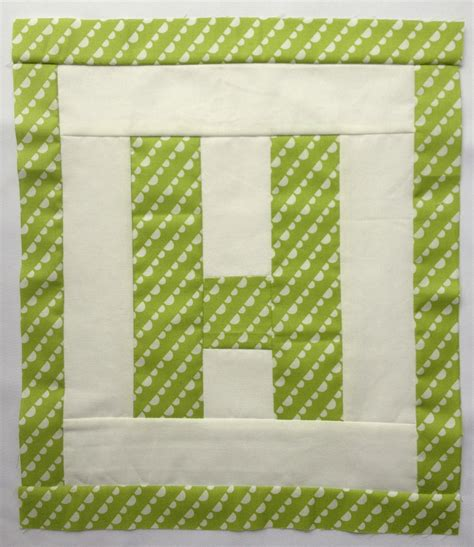 Letter Quilt Pattern Easy As Abc Qal Letter H Blossom Quilts