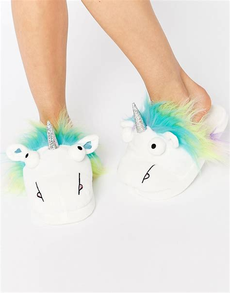 unicorn slippers uk asos asos nutty unicorn slippers at asos
