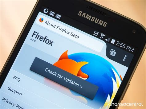 mozilla for android new firefox beta for android adds more custom home screen options android central