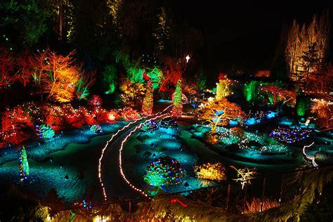 butchart gardens holiday lights image canada christmas butchart gardens christmas nature