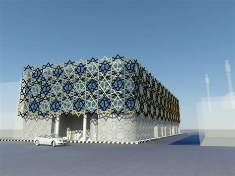 islamic pattern building amiran commercial center a s e archello