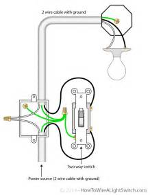 2 way switch with power feed via the light switch how to wire a light switch basements
