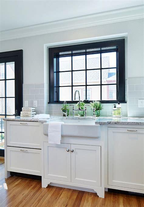 gray glass subway tile backsplash bistro style kitchen with breakfast nook home bunch