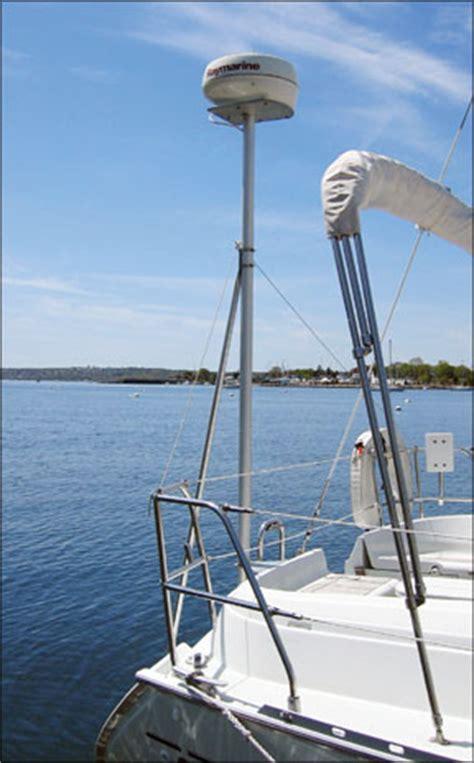 sailboat pole ps advisor safe mounting for radar practical sailor