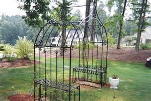 Garden Bench With Arch Iron Man Iron Works